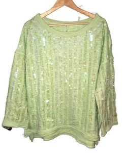 Free People Oversized Sequin Top XS